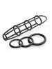 Набор Cockcage and Ring Set: силиконовая насадка на член и эрекционные кольца на пенис