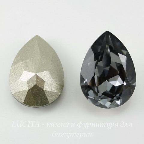 4320 Ювелирные стразы Сваровски Капля Crystal Silver Night (18х13 мм) ()