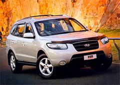 Защита передних фар позрачная Hyundai Santa Fe 2006- (214050)