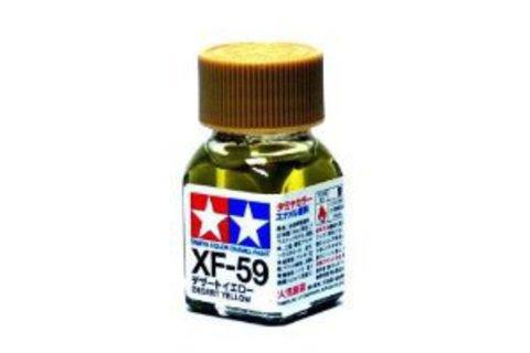 XF-59 Краска Tamiya Пустынно-желтая Матовая (Desert Yellow), эмаль 10мл