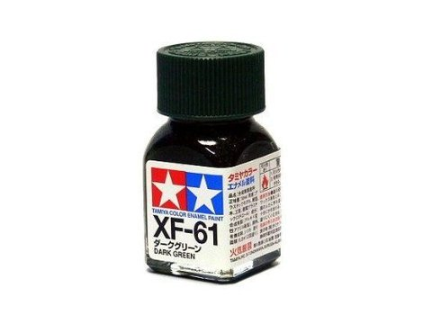 XF-61 Краска Tamiya Темно-зеленая Матовая (Dark Green), эмаль 10мл