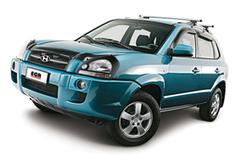 Защита передних фар позрачная Hyundai Tucson 2005- (214040)