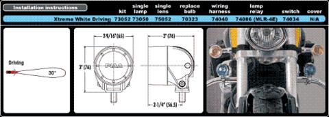 Фары для мотоциклов PIAA 005 series ML26E (полупрожектор)