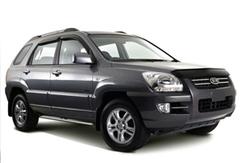 Защита передних фар карбон KIA Sportage 2005- (218030CF)