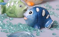 Стикер рыба голубая