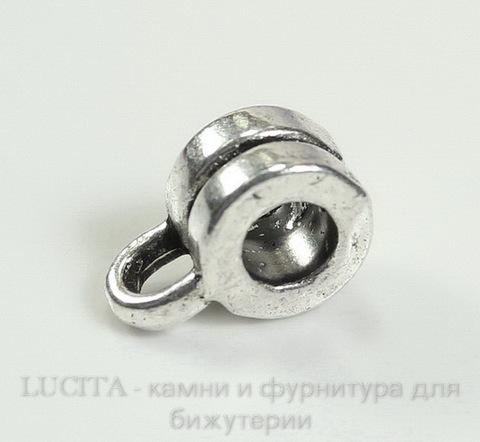 Бейл (цвет - античное серебро) 9х6х4 мм