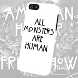 Чехол для iPhone 7+/7/6s+/6s/6+/6/5/5s/5с/4/4s  ALL MONSTERS ARE HUMAN