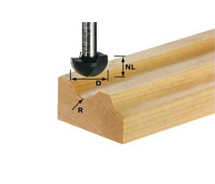 Фреза для изготовления желобка HW S12 D40/25/R20 Festool 491105