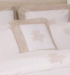 Наволочка декоративная 42х42 Luxberry Rose белая
