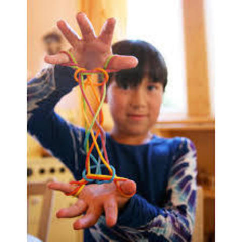 Веревочка для стринг-игры от Shara's Silk (радужная)