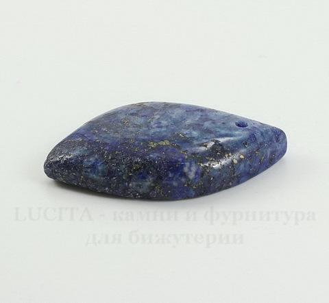 Подвеска Ляпис Лазурит (прессов., тониров) (цвет - темно-синий) 39х24,7х7,4 мм №70