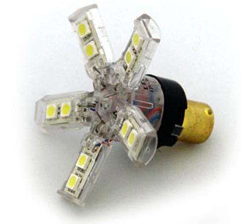 Светодиодные лампы P21W Sho-Me 5715-S (красный свет)