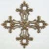 """Винтажный декоративный элемент - филигрань """"Мальтийский крест"""" 56х56 мм (оксид латуни) ()"""