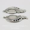 Сеттинг - основа - подвеска для камеи или кабошона 10х8 мм (оксид серебра), пара ()