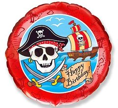 Круг Пираты С днем рождения 18