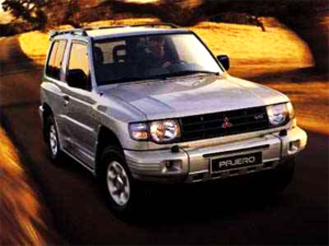 Защита передних фар карбон Mitsubishi Pajero II 1992-2000 (226020CF)