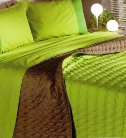 Покрывало 170х270 Caleffi Art Double оранжево-зеленое