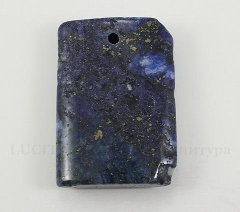 Подвеска Ляпис Лазурит (прессов., тониров) (цвет - темно-синий) 36,5х25,8х7,9 мм №73