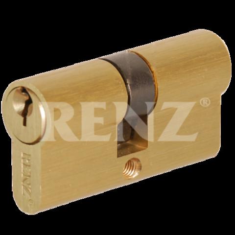 Фурнитура - Цилиндр Замка обычный Renz СS 60, цвет никель матовый