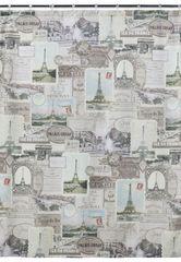 Элитная шторка для ванной Travelers Journal от Creative Bath