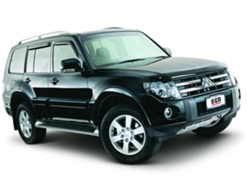 Защита передних фар карбон Mitsubishi Pajero IV 2007- (226190CF)