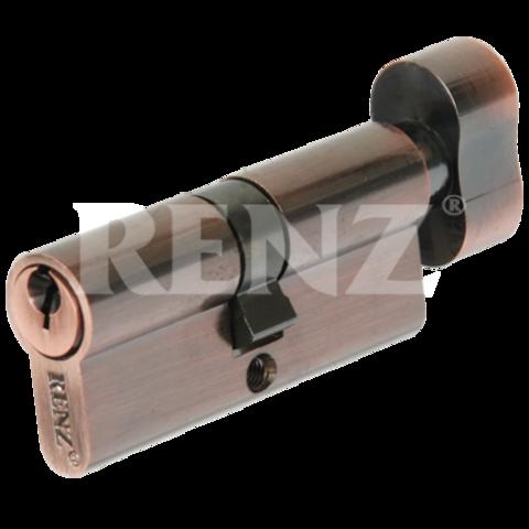 Фурнитура - Цилиндр Замка с барашком Renz СS 60-Н, цвет никель блестящий