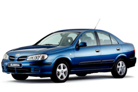 Защита передних фар карбон Nissan Almera 2002- (EGR-3443CF)