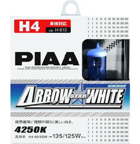 Галогенные лампы PIAA H4 H-610 (4250K) Arrow Star White
