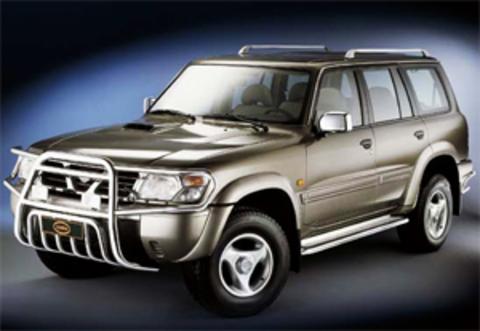 Защита передних фар прозрачная Nissan Patrol 1998- (227100)