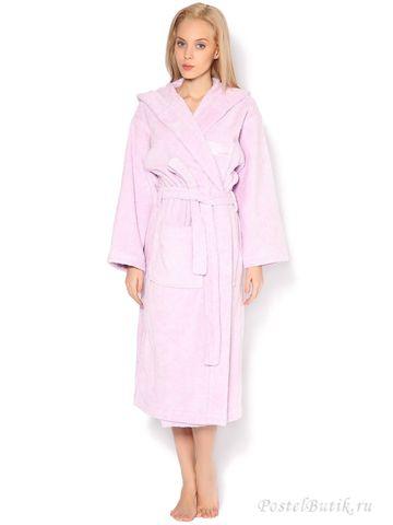 Элитный халат махровый Luxor розовый от Trussardi
