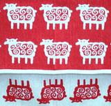 Детский плед, хлопок-ЭКО, Klippan, Барашки, 90x140 см, красный