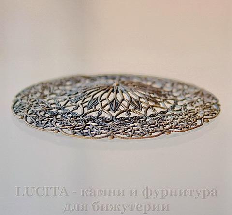 Коннектор - филигрань (цвет - античная бронза) 56,5 мм ()