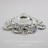 Сеттинг - основа - коннектор (1-1) для камеи или кабошона 23х17 мм (цвет - серебро) ()