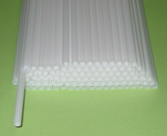 Трубочки полимерные для шаров, флагштоков и сахарной ваты Белые (100 шт)