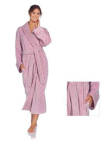 Элитный халат махрово-велюровый Doreena сиреневый от Vossen