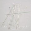 Винтажные пины с шариком 38х0,5 мм (цвет - серебро), 10 штук ()