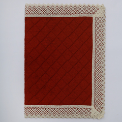 Элитный коврик для ванной Rombetti бордовый от Old Florence