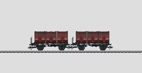 48273 Marklin Набор из двух вагонов для перевозки угля F-zz 131