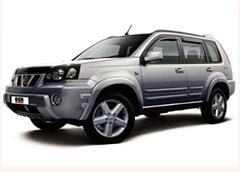 Защита передних фар прозрачная Nissan X-Trail 2002 (227080)