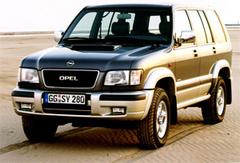 Защита передних фар прозрачная Opel Monterey 1998- (215040)