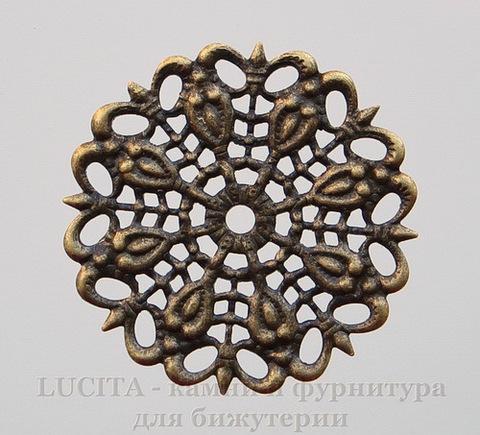 Филигрань 25 мм (цвет - античная бронза)