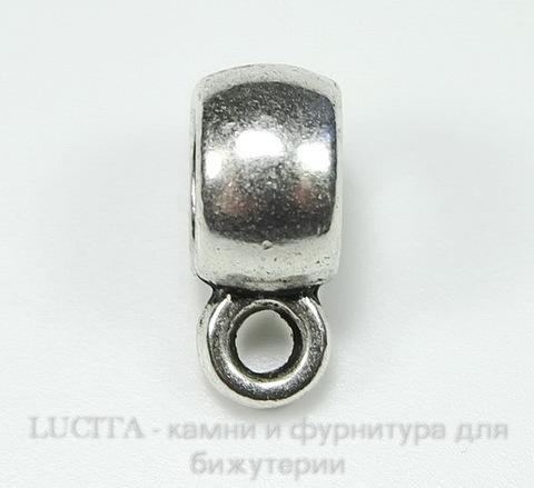 Бейл гладкий 9х4 мм (цвет - античное серебро) ()