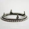 Сеттинг - основа - подвеска для камеи или кабошона 25 мм (оксид серебра) ()