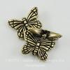 "Бусина TierraCast ""Бабочка"" (цвет-античная латунь) 16х11 мм"