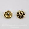 """Шапочка для бусины TierraCast """"Tiffani"""" (цвет-античное золото) 6х3 мм ()"""