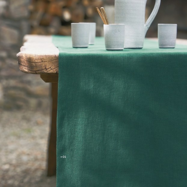 Дорожка на стол Proflax Boda 42х160 зеленая
