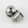 """Концевик для шнура 6 мм TierraCast """"Купол"""" (цвет-античное серебро) 9х9 мм"""
