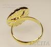 Основа для кольца с площадкой 16 мм  (цвет - золото) ()