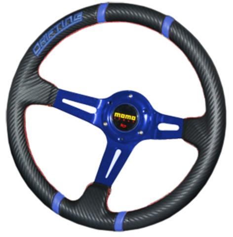 Руль MOMO Drifting 32 (голубые вставки)