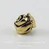 """Бусина TierraCast """"Роза"""" 8х7 мм (цвет-античное золото) ()"""